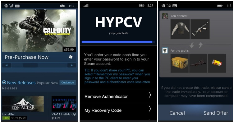 Valve Official Steam App for Windows Phone Available Now, What it has to offer?