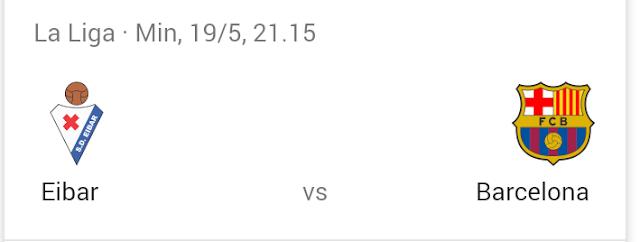 Hasil pertandingan Barcelona vs Eibar
