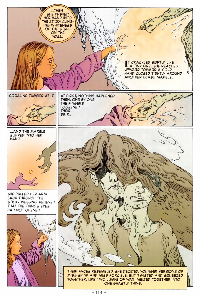 Read page 114, from Nail Gaiman and P. Craig Russell's Coraline graphic novel