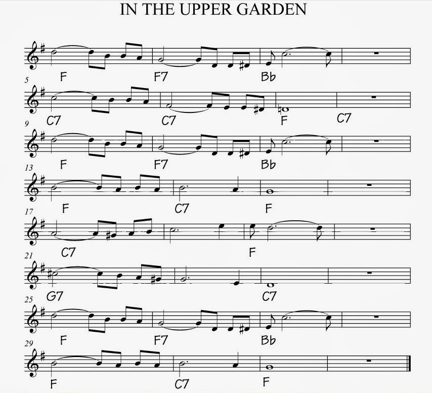 Pops Coffee\'s Traditional Jazz: Post 244: \'IN THE UPPER GARDEN\'