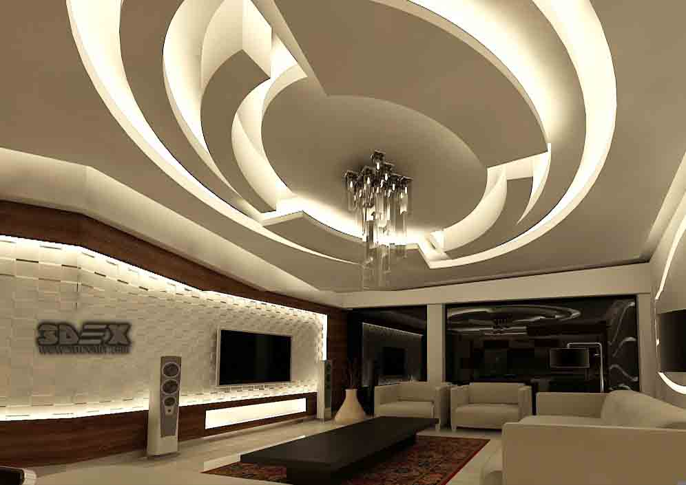 Latest pop design for hall 50 false ceiling designs for - Living room false ceiling designs ...