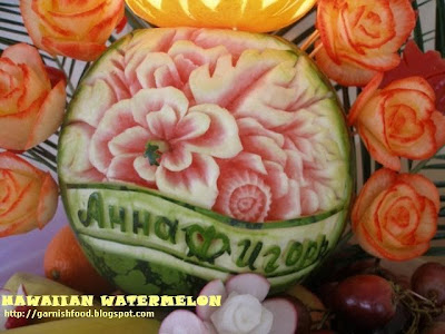 fruit buffet hawaiian theme wedding