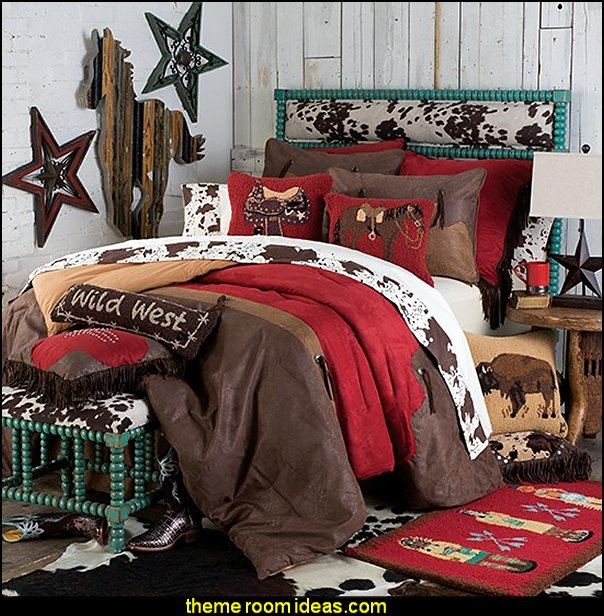 Red Rodeo Bedding Collection western bedding western theme decorating cowboys