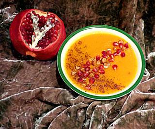 sweet potato soup with sumac