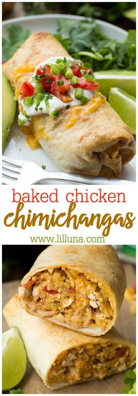 Baked Chicken and Rice Chimichangas Recipe