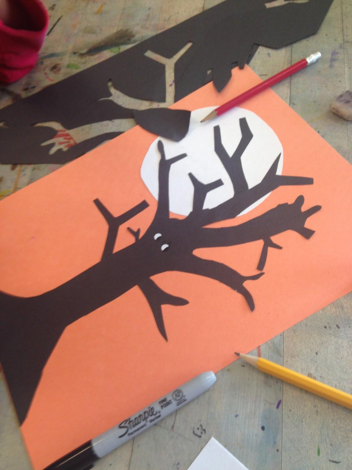 Art Room Blog 3rd Grade Halloween Silhouettes