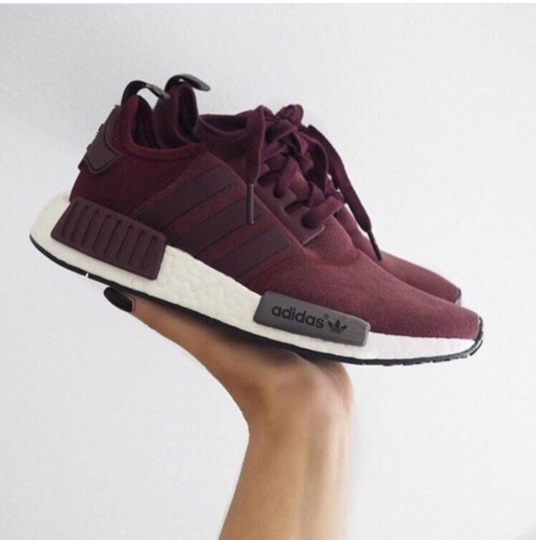 info for 8dffc 4d730 ADIDAS NMD R1 CASHMERE SKIN RUNNER SHOES RED WINE  79