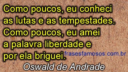 Frase de Oswald de Andrade