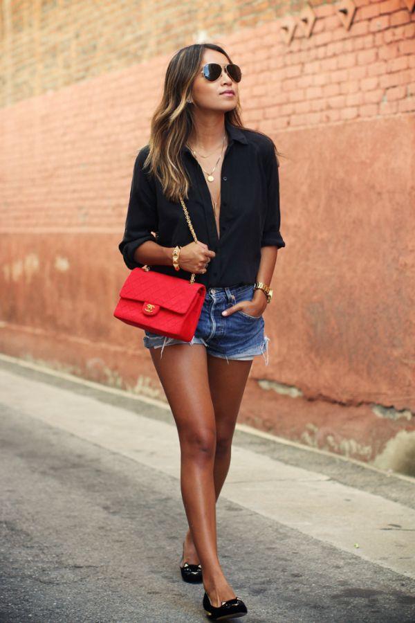 Looks com camisa preta feminina