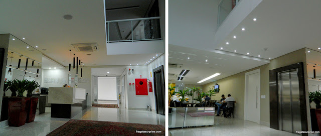 Lobby e salão de refeições do Hotel Mohave, Campo Grande, Mato Grosso do Sul