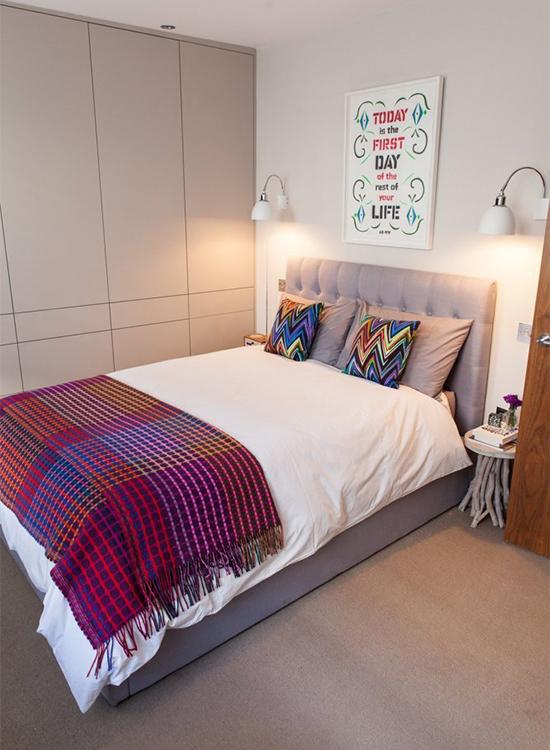 quarto de casal, parade cinza, bedroom, grey wall