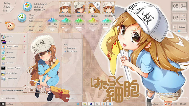 Windows 8/8.1 Theme Hataraku Saibou by Enji Riz Lazuardi