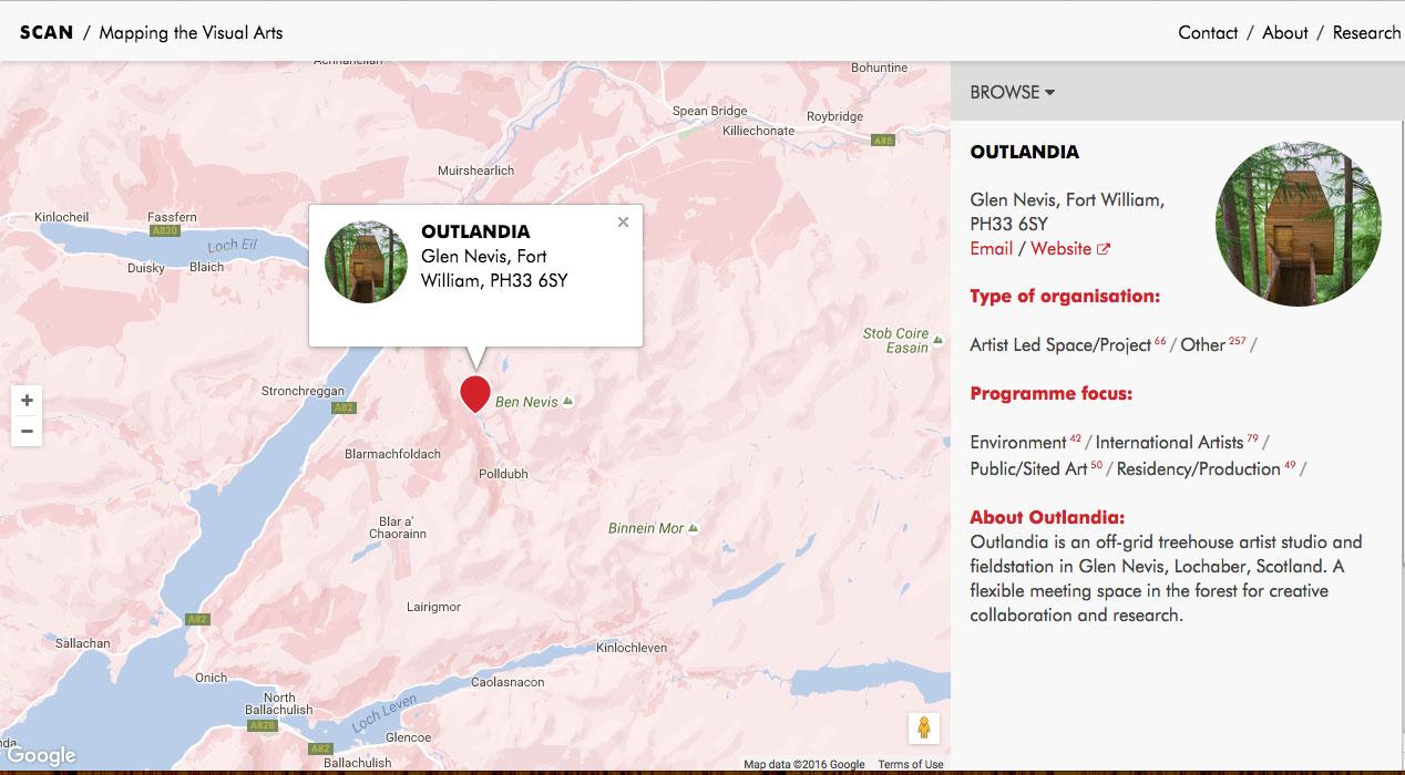 Lochaber Scotland Map.Outlandia Scottish Contemporary Art Network