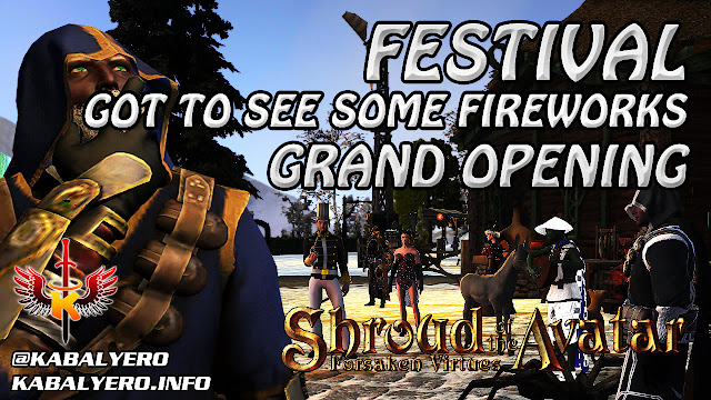 Festival Grand Opening, Got To See Some Fireworks 🏠 Shroud Of The Avatar Player Owned Town