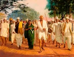The Salt March of Gandhi