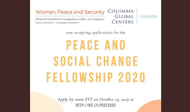 Peace and Social Change Fellowship Program For Women Activist In Africa 2020