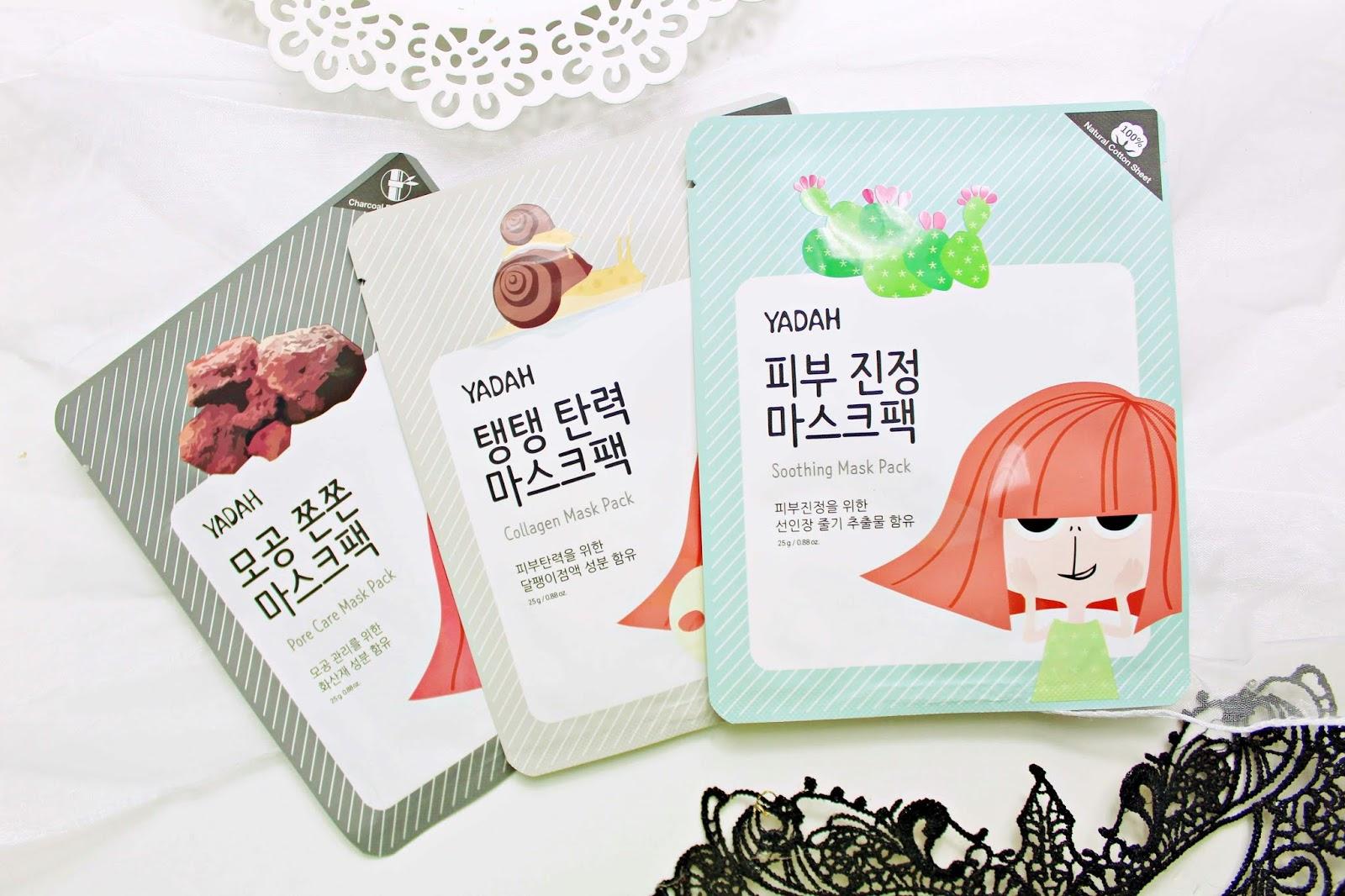 YADAH - koreańskie maseczki do twarzy - NOWOŚĆ!
