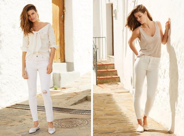 Девушки в белой одежде разных теплых оттенков белого