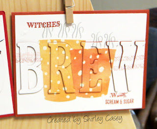Stampin' Up! Merry Cafe Witches Brew Eclipse Card by Shirley Casey