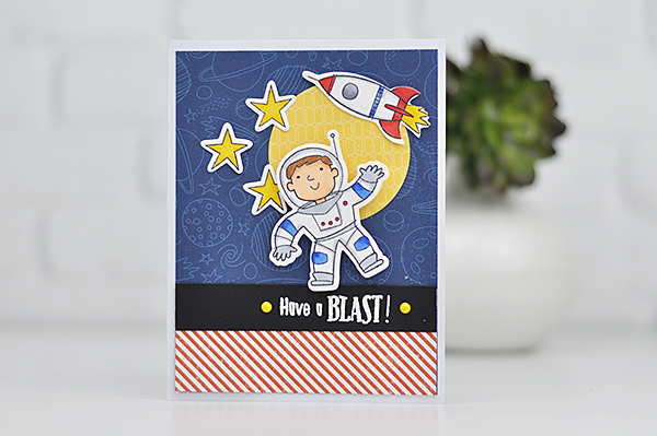 Close to My Heart: Astronaut Stamped Card