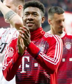 Bayern will have david Alaba back from injury