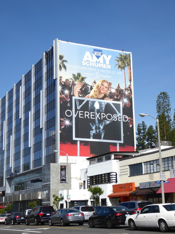 Amy Schumer Overexposed x-ray billboard