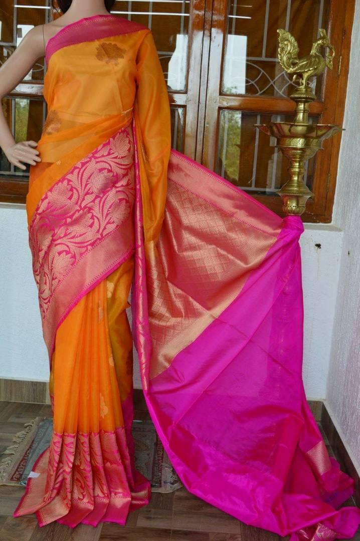 Pure Banaras Kora silk sarees | Buy Online Banars Sarees ...