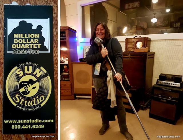 Visita ao Sun Studio, em Memphis