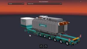 Schwerlast Siemens Trafo trailer mod
