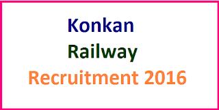 Konkan Railway Recruitment 2016