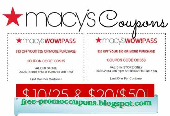 macys free shipping coupon code