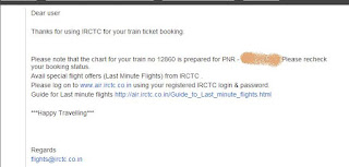IRCTC Cheap Flight Ticket Offer E Mail screen shot
