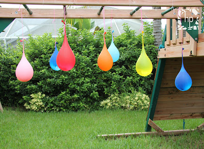 Hanning water balloon pinatas
