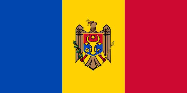 Logo Gambar Bendera Negara Moldova PNG JPG ukuran 600 px