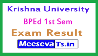 Krishna University BPEd 1st Sem Exam Results