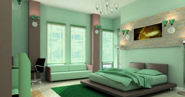 How To Decorate A Bedroom With Green Carpet