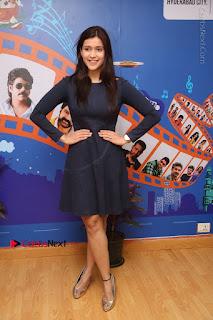 Actress Mannara Chopra Stills in Blue Short Dress at Rogue Song Launch at Radio City 91.1 FM  0098.jpg