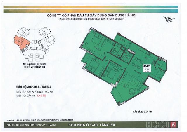 thiết kế căn số 2 tòa ct1 chung cư e4 yên hòa