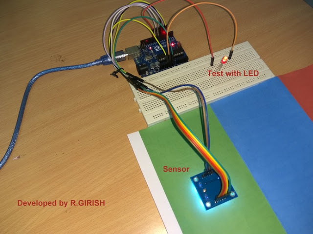 Color Detection  Prototype using Arduino