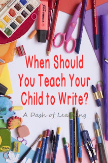 When Should You Teach Your Child to Write?