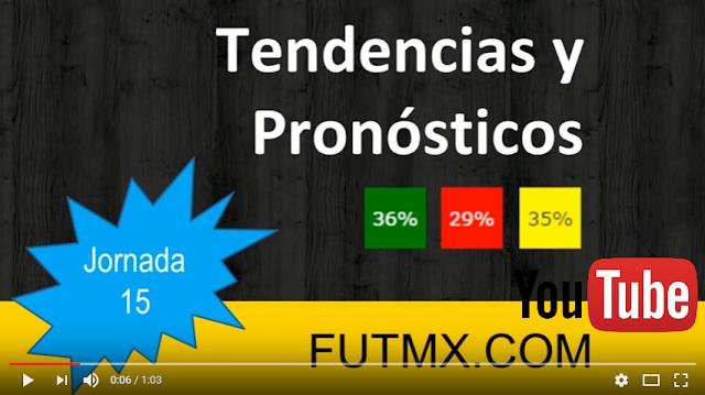 Pronósticos y tendencias de la jornada 15 del futbol mexicano