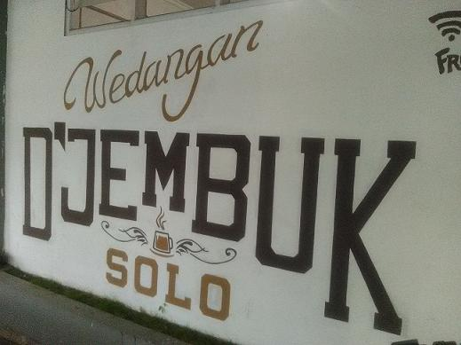 Warung wedangan D'Jembuk di Solo
