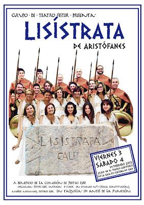 """Grupo de Teatro Festero con """"Lisístrata de Aristófanes"""" el 03.y 04.Febrero en Calpe, Mario Schumacher Blog"""