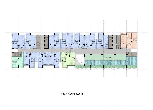 Mặt bằng tầng căn hộ Aview 2 - GreenLife Bình Chánh