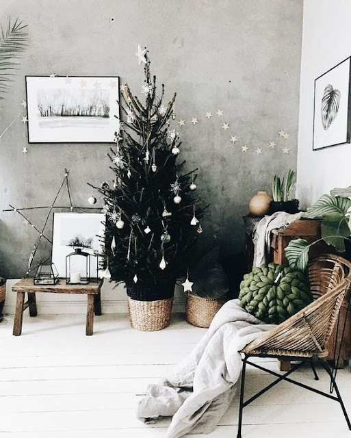 Decoración navideña de estilo nórdico