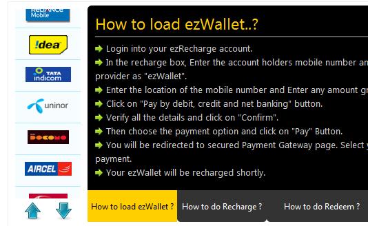 article web based recharge