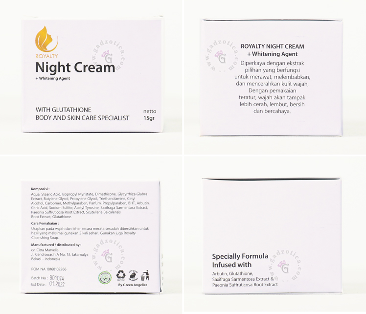 Royalty Night Cream Review