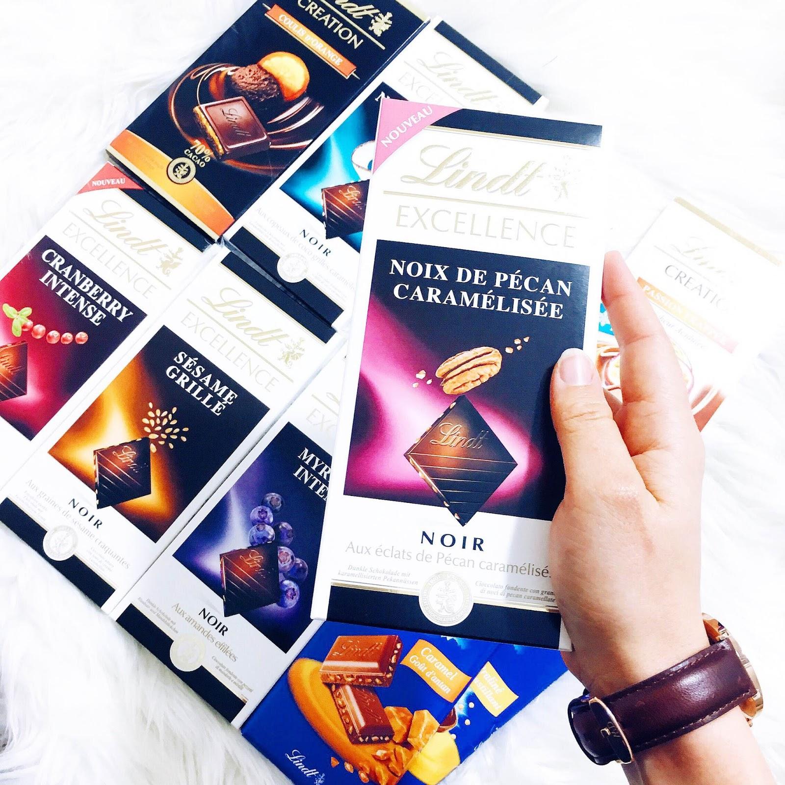 Lindt tablettes chocolat