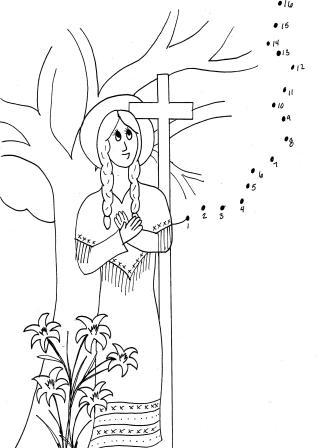 Catholic kids july 2012 catholic kids bulletins for St kateri coloring page