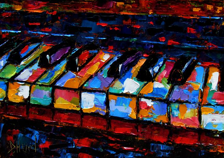 Abstract Music Notes Art: Debra Hurd Original Paintings AND Jazz Art: June 2012
